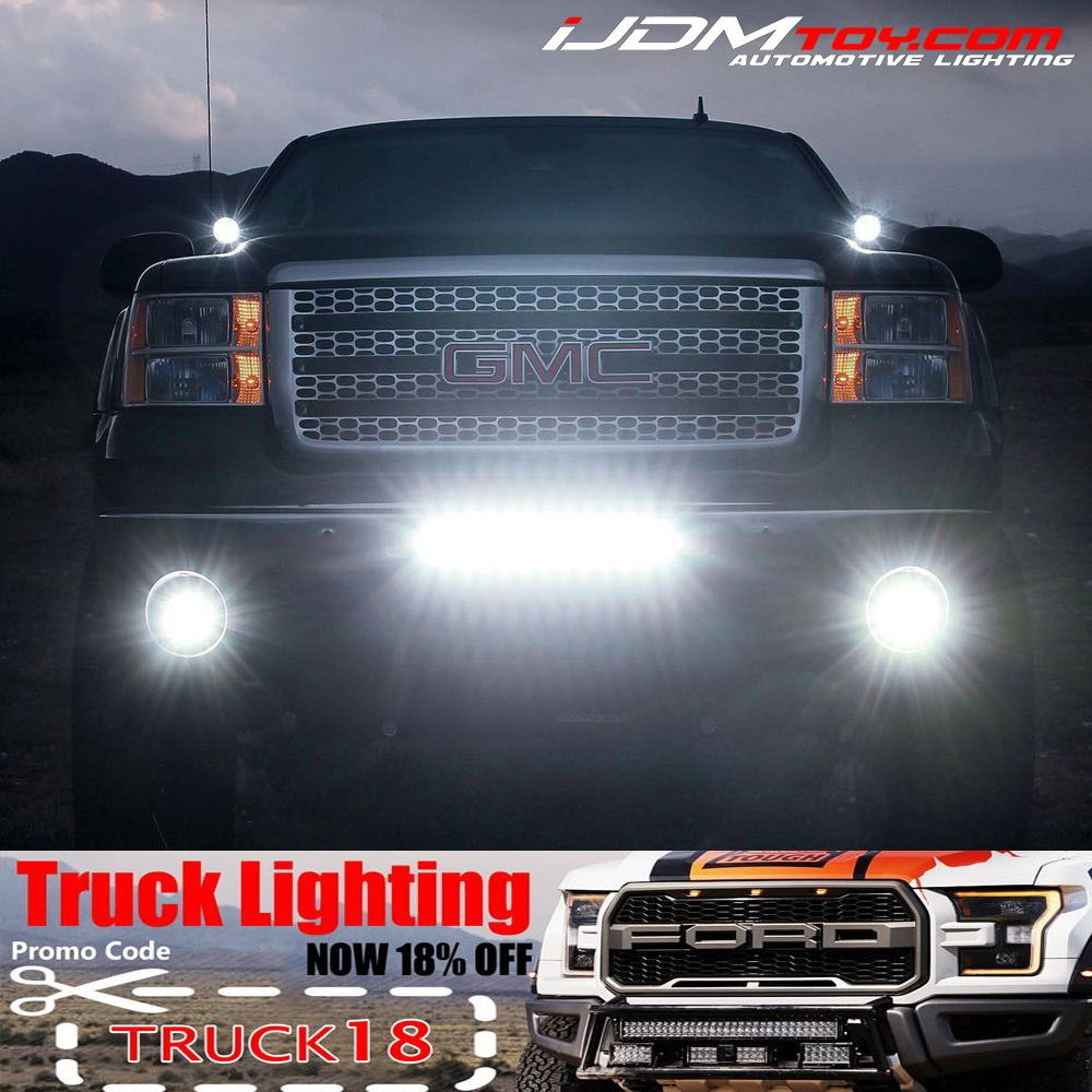 Ijdmtoys truck led sale is still on but going away soon take 18 high quality car led lighting and accessories such as led daytime running lights led fog lamps led scanner bars led interior lights can bus led and aloadofball Gallery