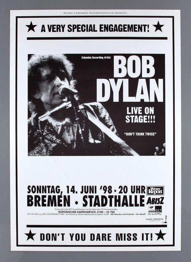 Bob Dylan Rare Original Germany 1998 Time Out Of Mind Concert