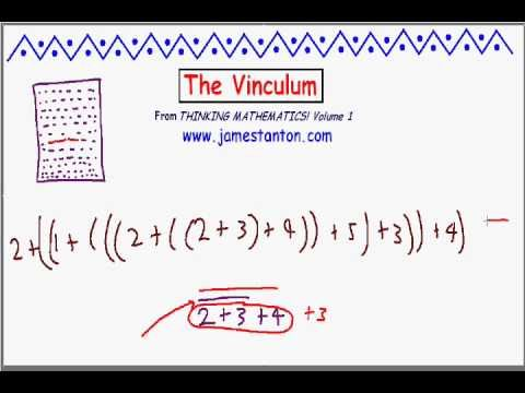 Definition And Examples Vinculum  Define Vinculum  Free Math