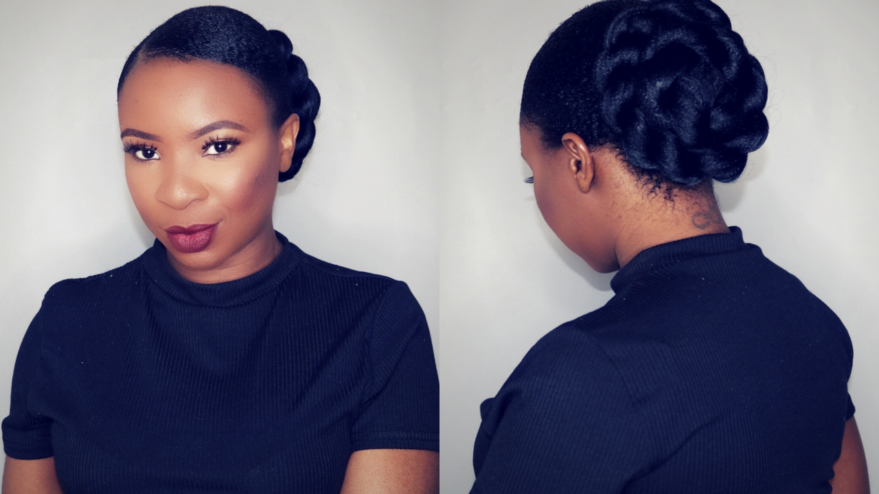 How To Twisted Sleek Low Bun On Short Natural Hair With Images