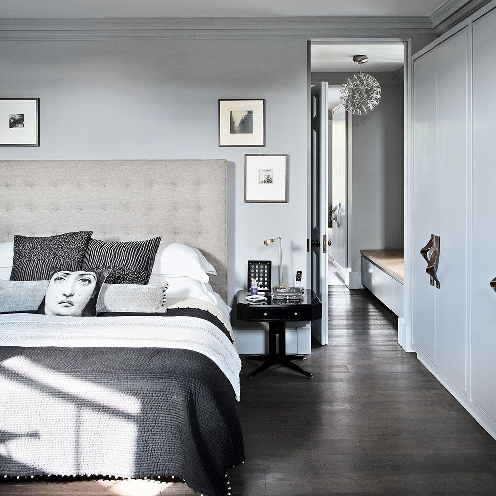 Black White and Grey Bedroom Simple Interior Design for