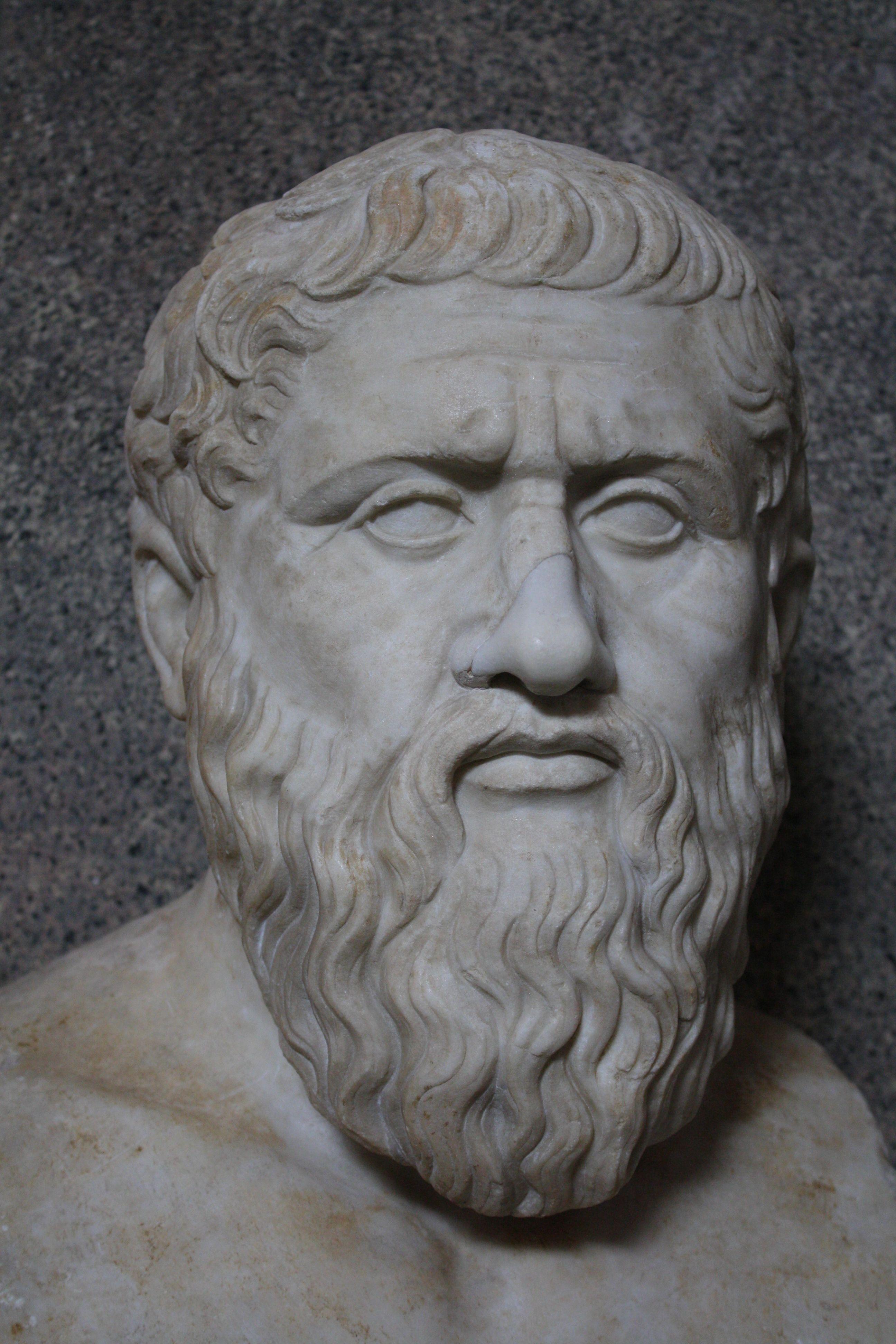Ideias De Platão ~ Bust of the Greek philosopher Plato, mid 1st century CE copy from a 4th century BCE original