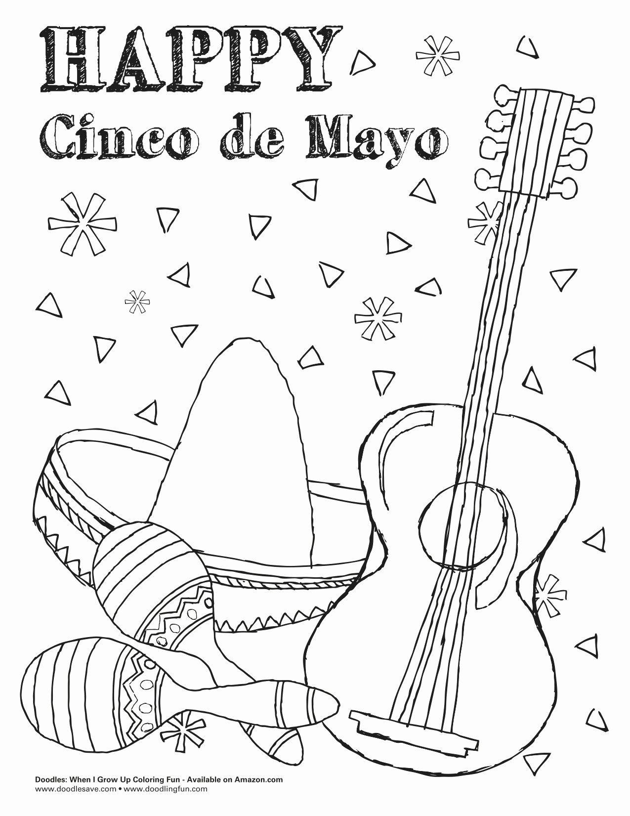 Cinco De Mayo Coloring Page New Ausmalbilder Fur Kinder