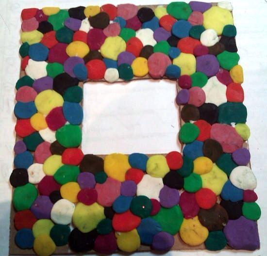 Marcos de fotos con plastilina manualidades craft and clay - Marcos fotos manualidades ...