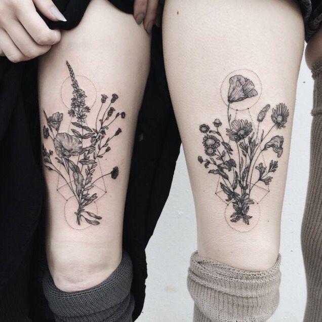 Geometric Tattoos Portland: Delicate Geometric Flowers/floral Design - Tattoo