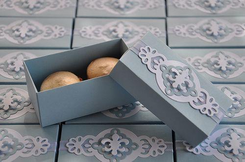 Caixa para dois bombons, macarons, trufas, etc