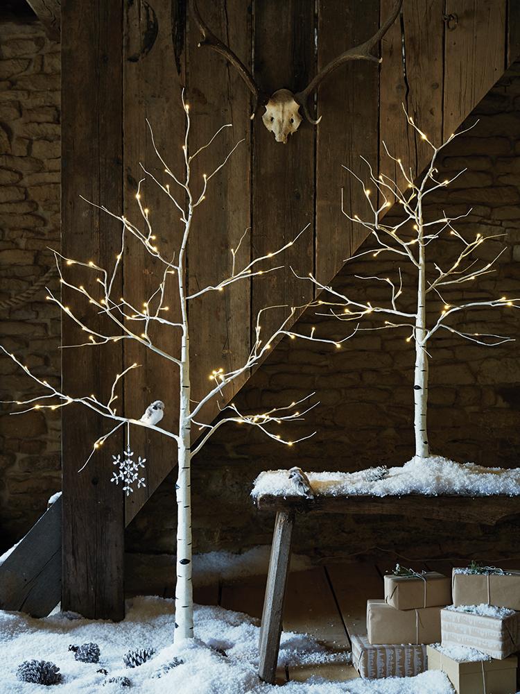 Gorgeous Indoor Decor Ideas with Christmas Lights | Birch, Fir ...