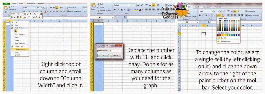 How To Make Graph Paper In Excel Articles Of A Domestic Goddess