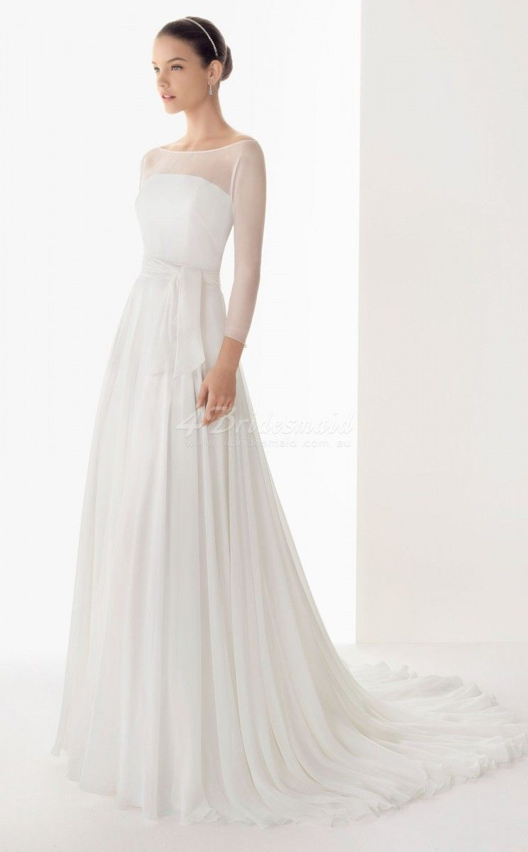 wedding dresses with chiffon sleeves - Google Search | Things to ...