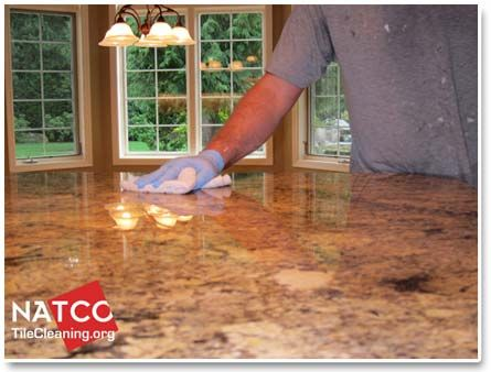 Saturating Granite Countertop With Sealer Kitchen Pinterest