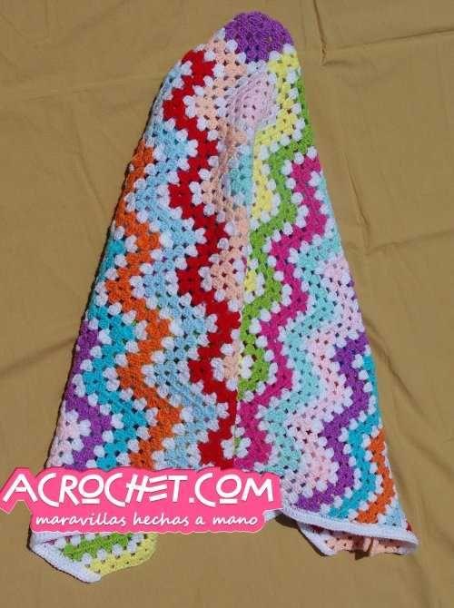 Manta Granny Zig Zag Multicolor | Blog a Crochet – ACrochet ...