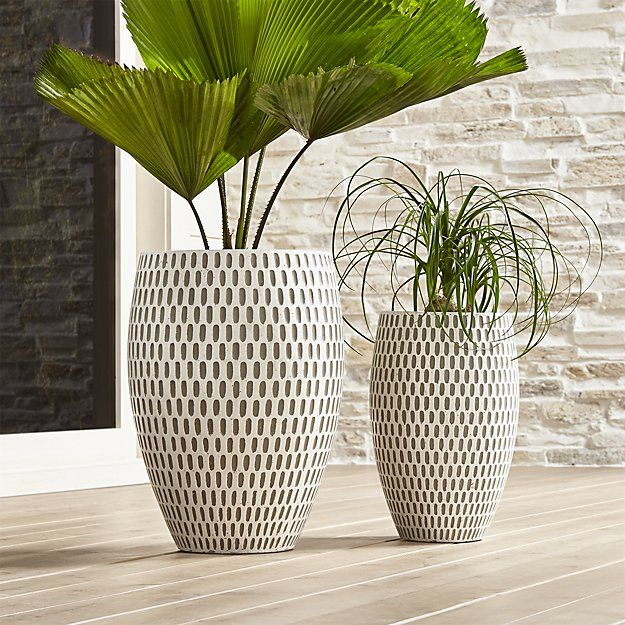 Howell Short Planter Crate And Barrel Cement Planters 640 x 480