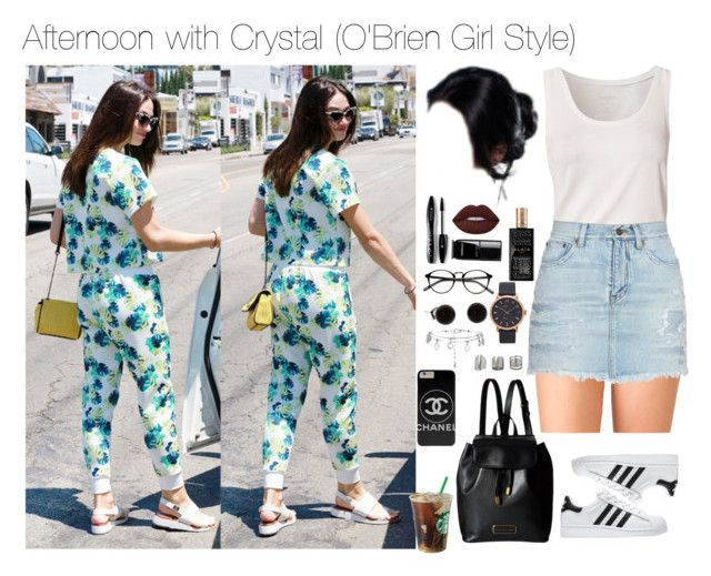"""Afternoon with Crystal"" by myllenna-malik ❤ liked on Polyvore featuring Forever 21, Calvin Klein, Yves Saint Laurent, adidas, Marc by Marc Jacobs, Lancôme, Chanel, Lime Crime, Alaïa and Marc Jacobs"