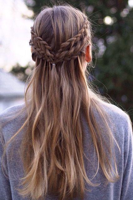 Coiffures longues jolies et faciles pour les écolières: coiffures longues tressées; blond ... #coiffures #ecolieres #faciles #jolies #lon - bilder dekoration