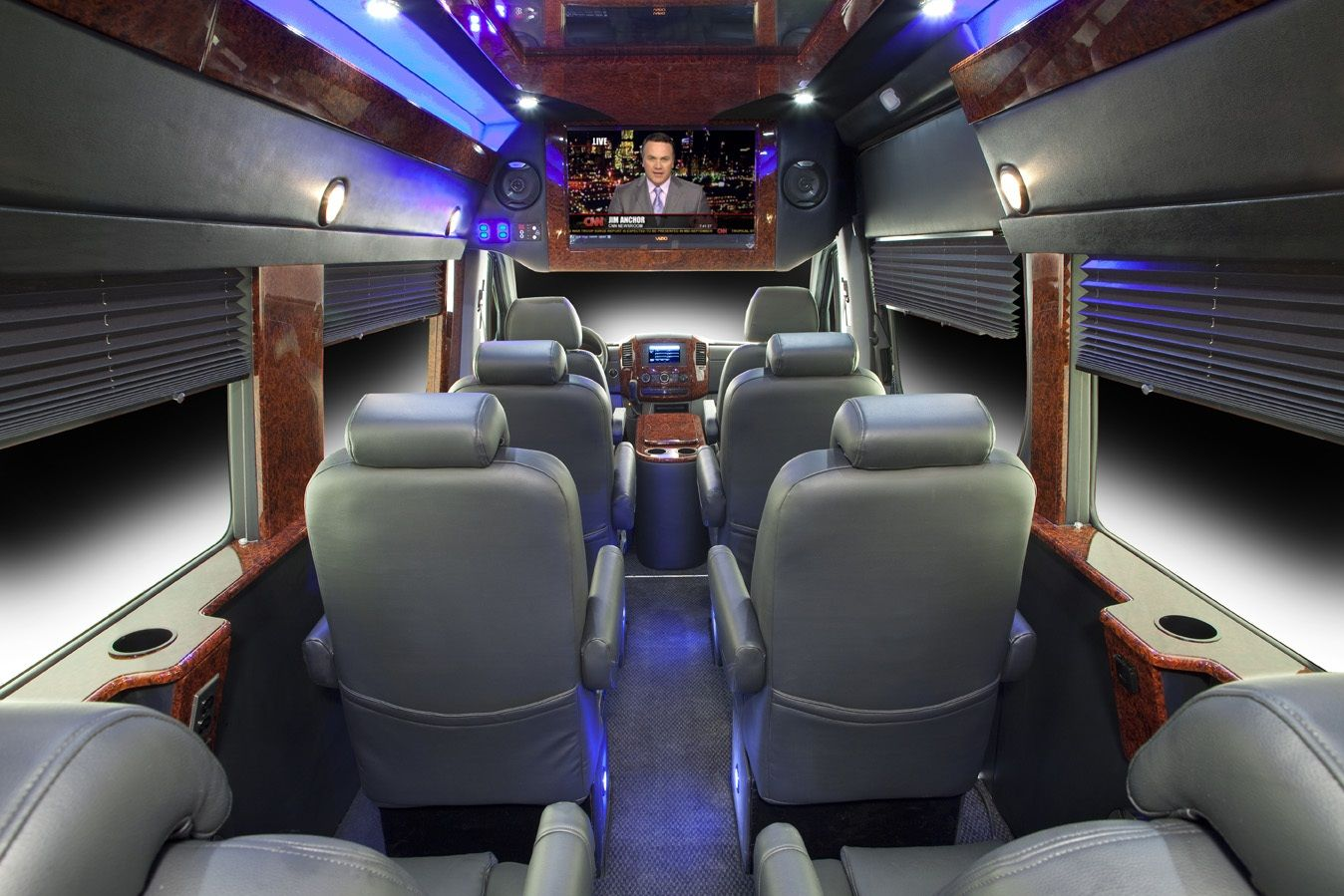 Executive Sprinter Van Seats 10 Passengers Luggage Capacity 10 Black Exterior And Leather Interior Forward Facin Luxury Bus Luxury Van Sprinter Passenger Van
