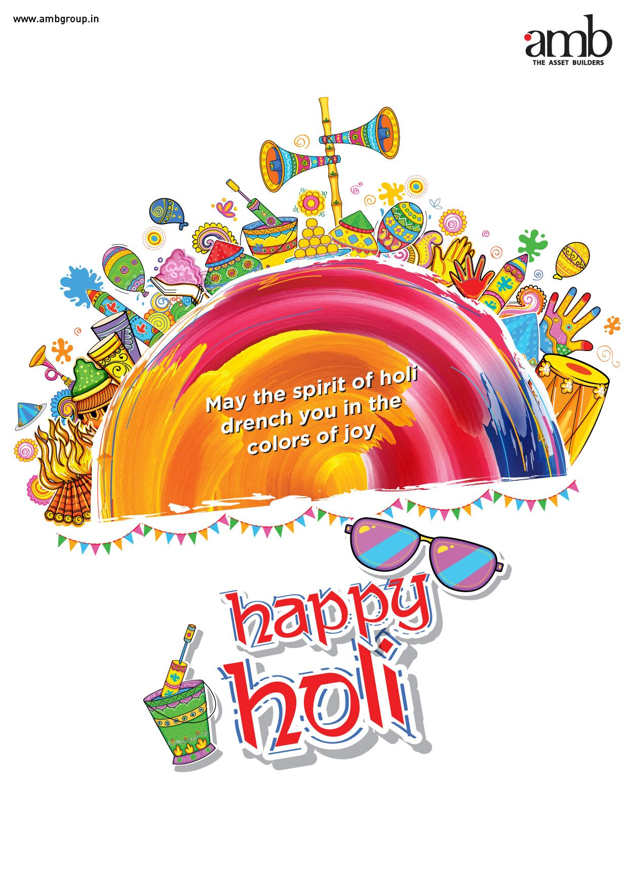 Amb Group Wishes You A Very Happy Holi May God Gift You All The