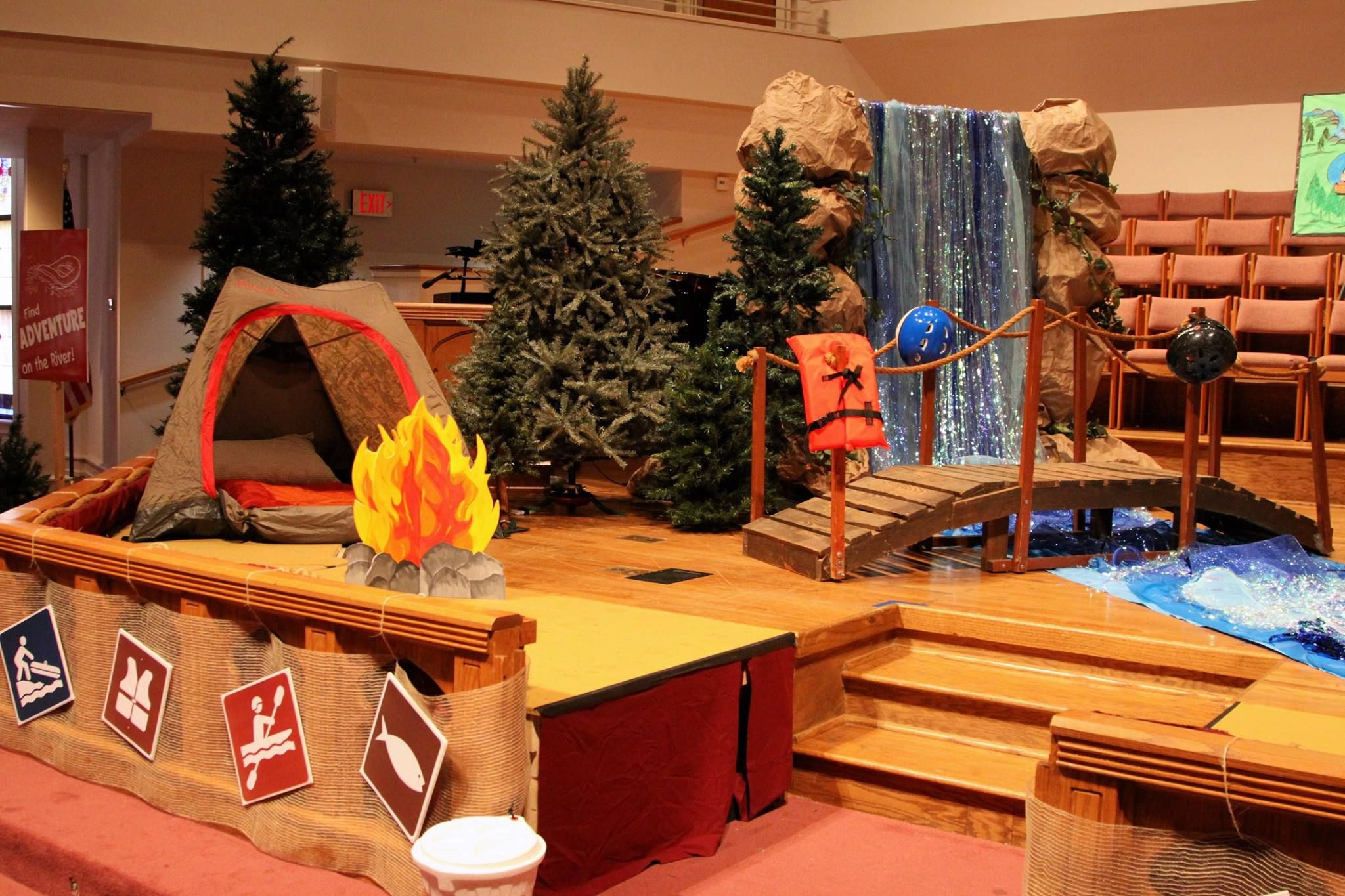 Great Looking Set With The Tent Vest Campfire Scene And