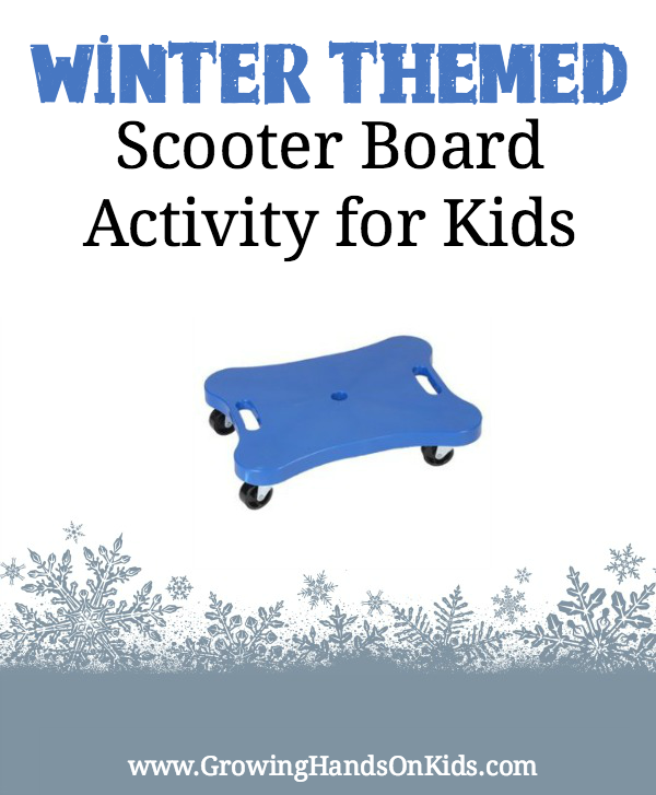 Winter themed scooter board activity for kids scooters for Winter themed gross motor activities