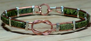 Jade Bangle Bracelet 920 has  12 Steps and 12 Photos - $5.50