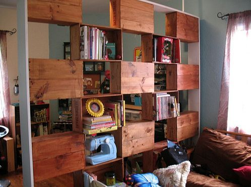 Super Bibliothèque caisse bouteilles de vin   Bookcase closet, Crates  TK77