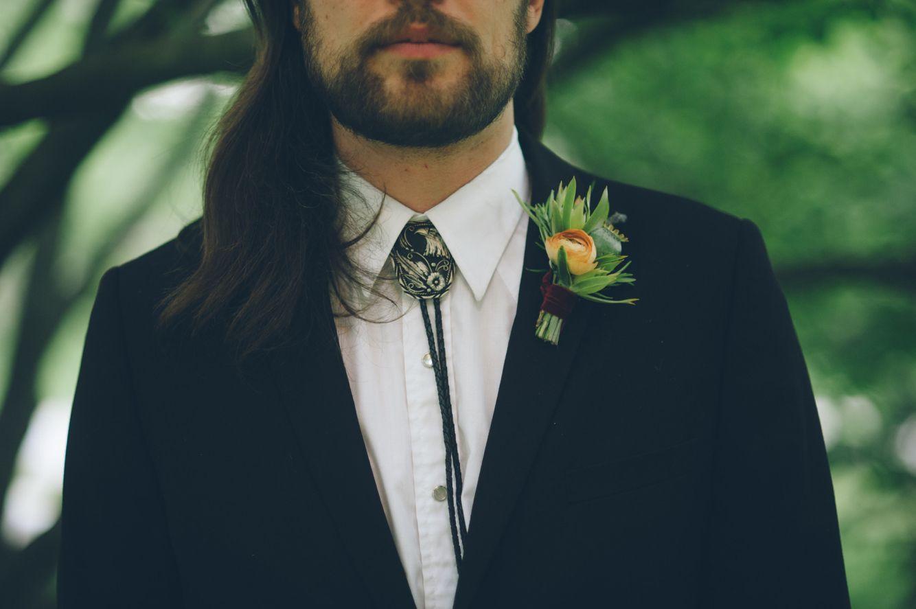 Bolo Tie Wedding Vibes Bohemian Wedding Bride Dresses Flowers Crystals Landscapes Garden P Country Groom Attire Mens Wedding Attire Watermelon Wedding
