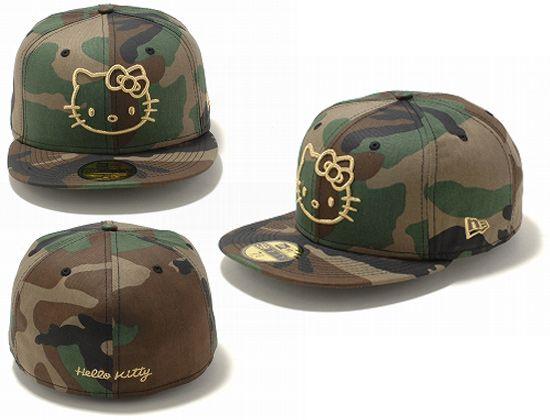 hello-kitty-camo-NEW-ERA-59Fifty-Fitted-Baseball-Cap-hat  bdd604b77e3