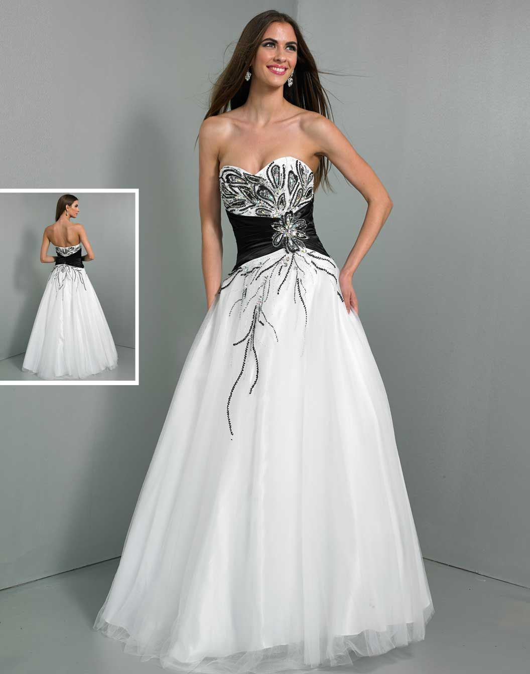 black-and-white-prom-dresses- | White Formal Dress | Pinterest ...
