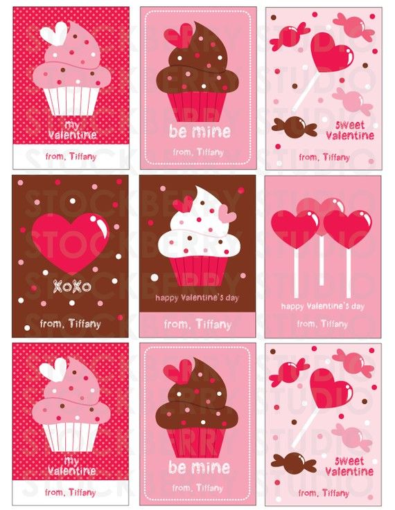 5 adorable printable valentines day cards on etsy – Kids Printable Valentines Day Cards
