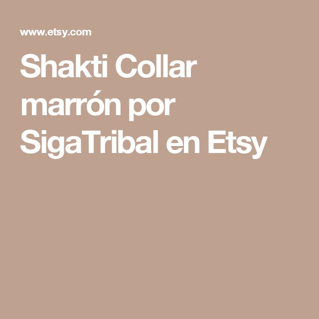 Shakti Collar marrón por SigaTribal en Etsy