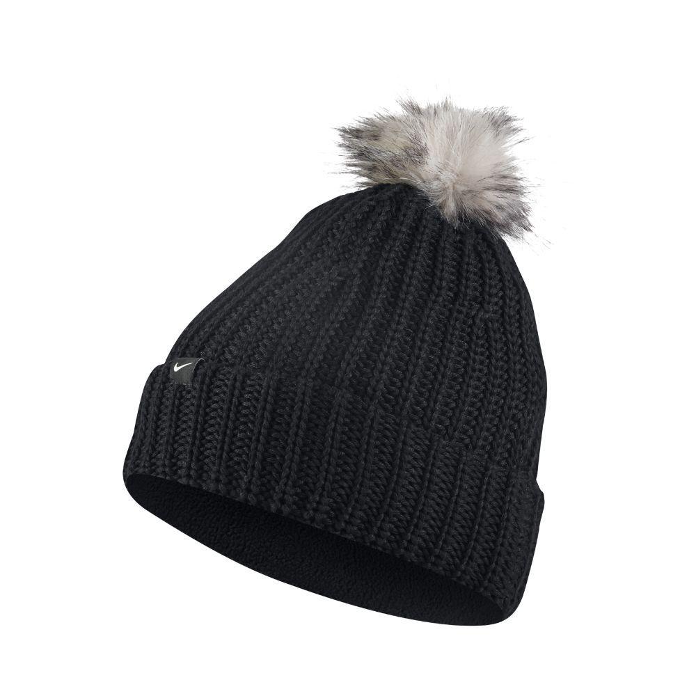 ad60165079a Nike Golf Pom Women s Knit Hat (Black)