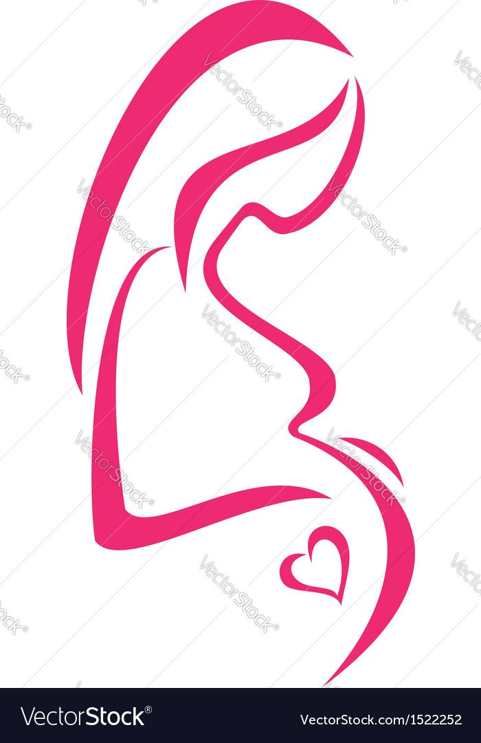 Pregnant Woman Isolated Symbol Download A Free Preview Or High