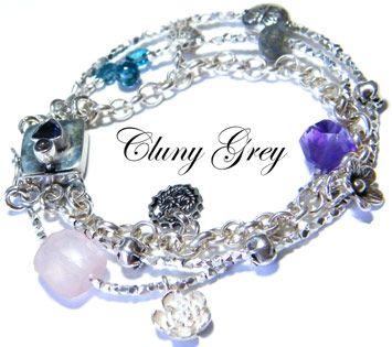 handmade bracelet -  http://www.clunygreyjewelry.com/page3.html