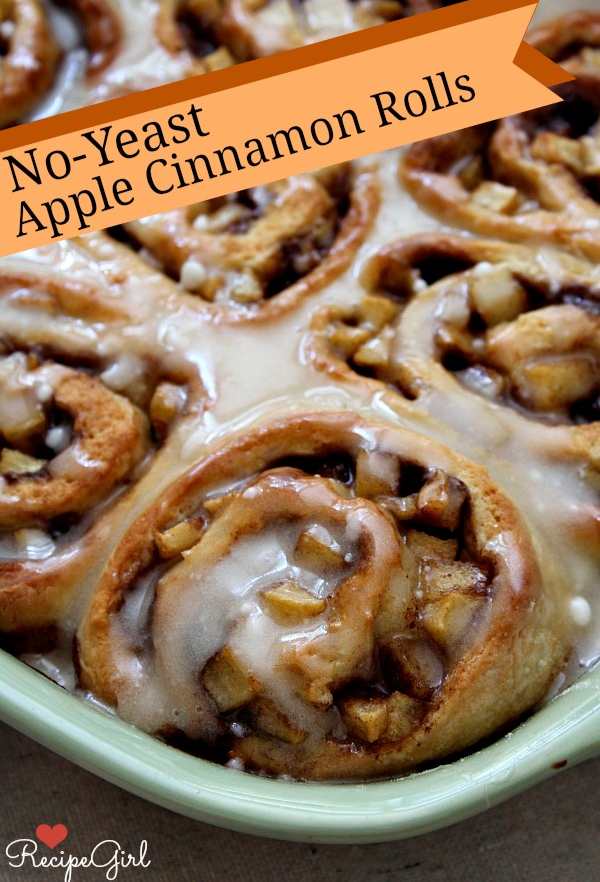 No Yeast Apple Cinnamon Rolls Apple Cinnamon Rolls Cinnamon