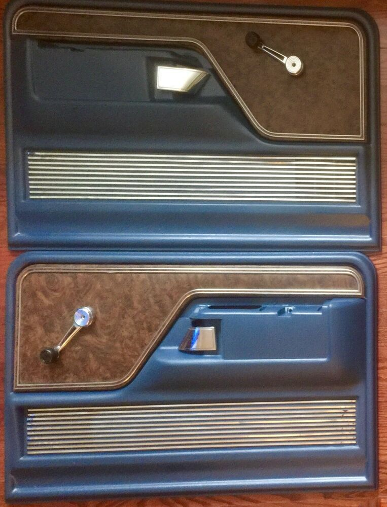 73 79 Ford Truck Door Panels Blue 1973 1974 1975 1976 1977 1978 1979 Pair Set Ford 79 Ford Truck Classic Car Insurance Ford Trucks