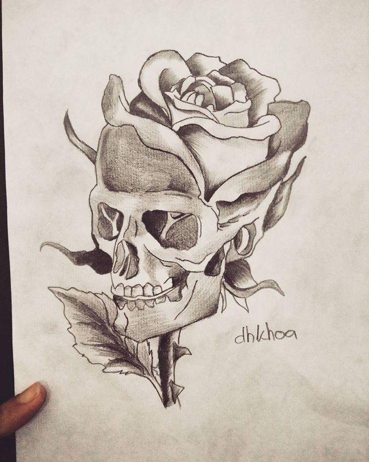 skull pencil drawing #drawings #art