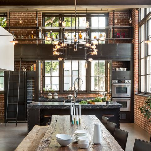 industrial bei houzz loft style wohnen dank industrial chic industrial style in 2019 k chen. Black Bedroom Furniture Sets. Home Design Ideas