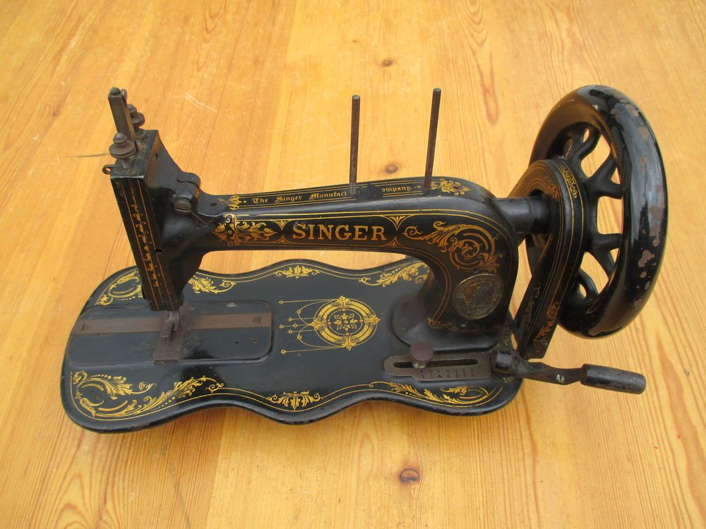 Rare Antique 1873 Singer Sewing Machine Only Belt Driven Sewing Machine Singer Sewing Machine Antique Sewing Machines