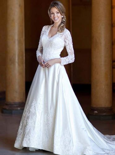Winter wedding dresses lace sleeves | Pictures Reference | Future ...