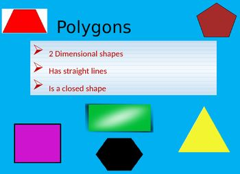 A Power Point About Polygons Gives Definitions About Regular And