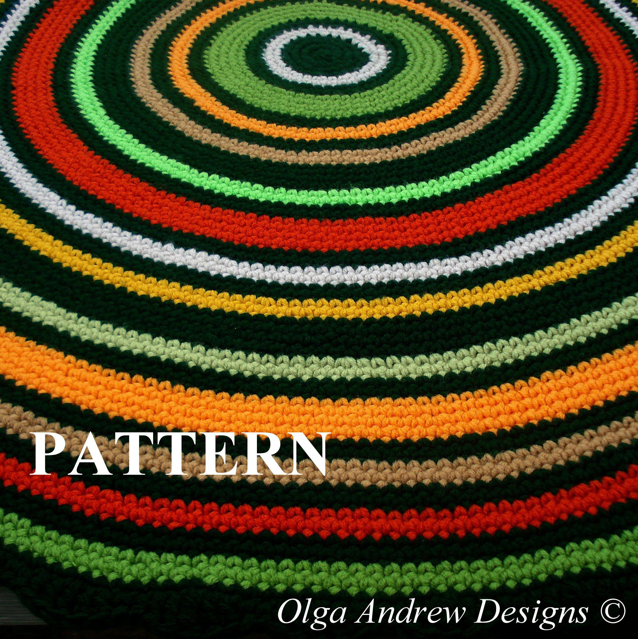 Crochet Rug PATTERN rug crochet pattern rug pattern PDF easy crochet ...