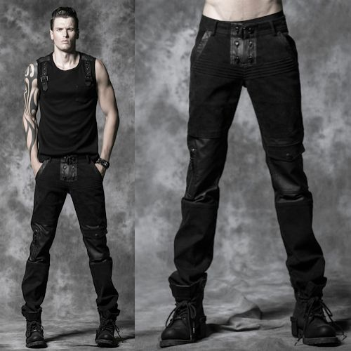 Rock 39 N 39 Roll Is In The Soul Personalized Men Black Skull Punk Rock Fashion Casual Pants Trousers