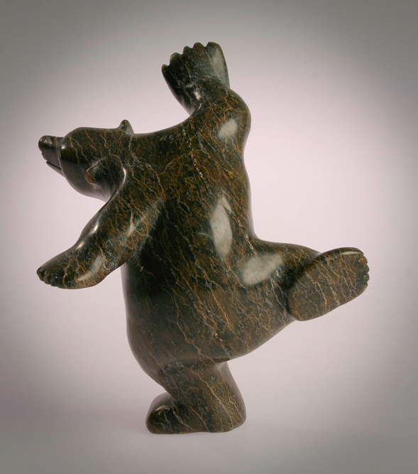 Quot dancing bear inuit polar sculpture