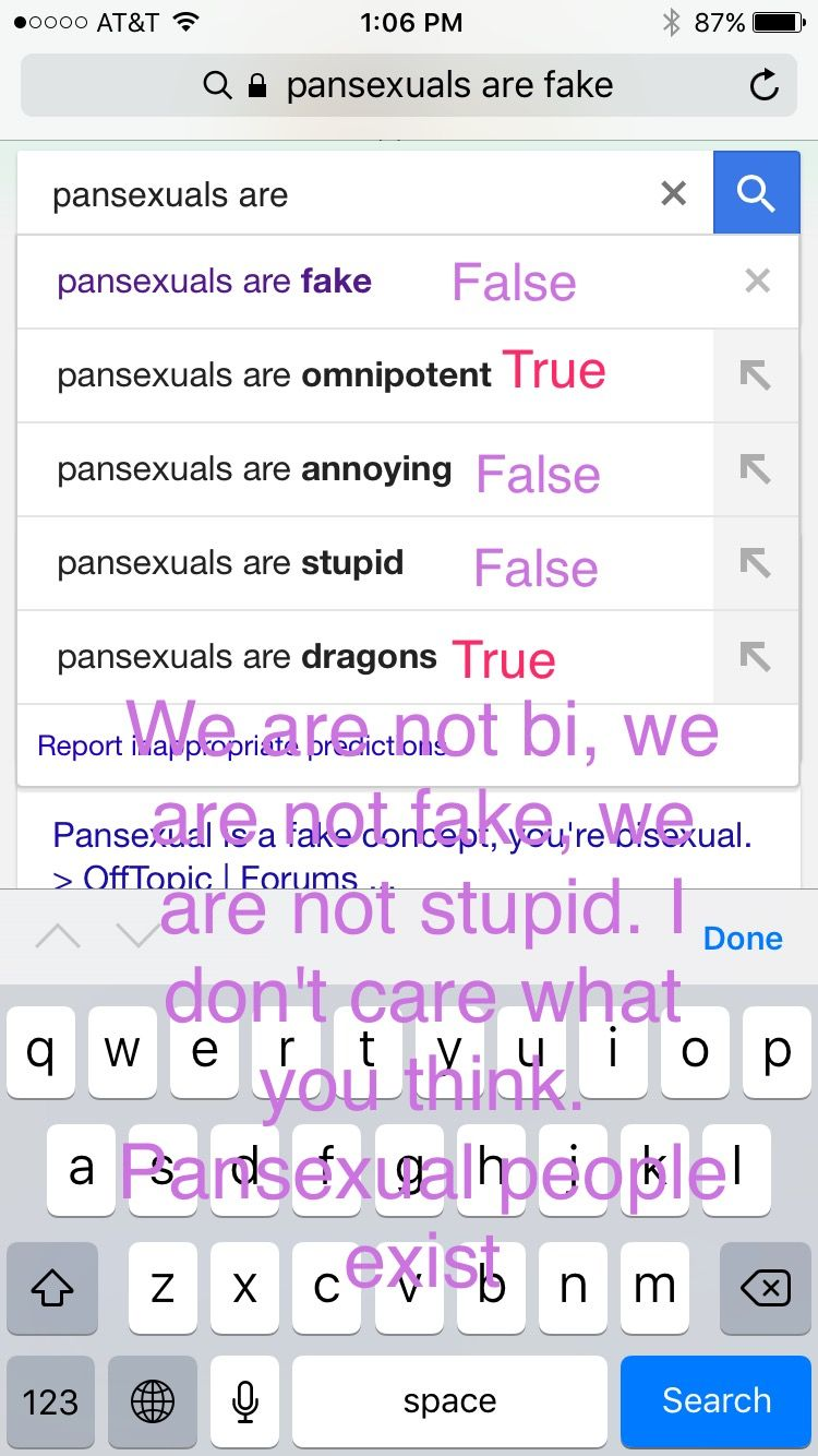 Pansexuality is fake