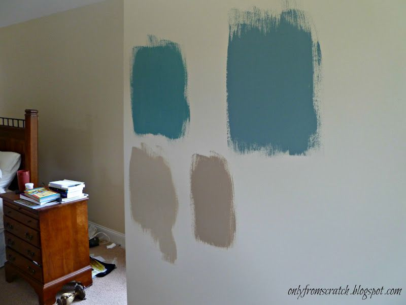 Paint Samples On Wall House