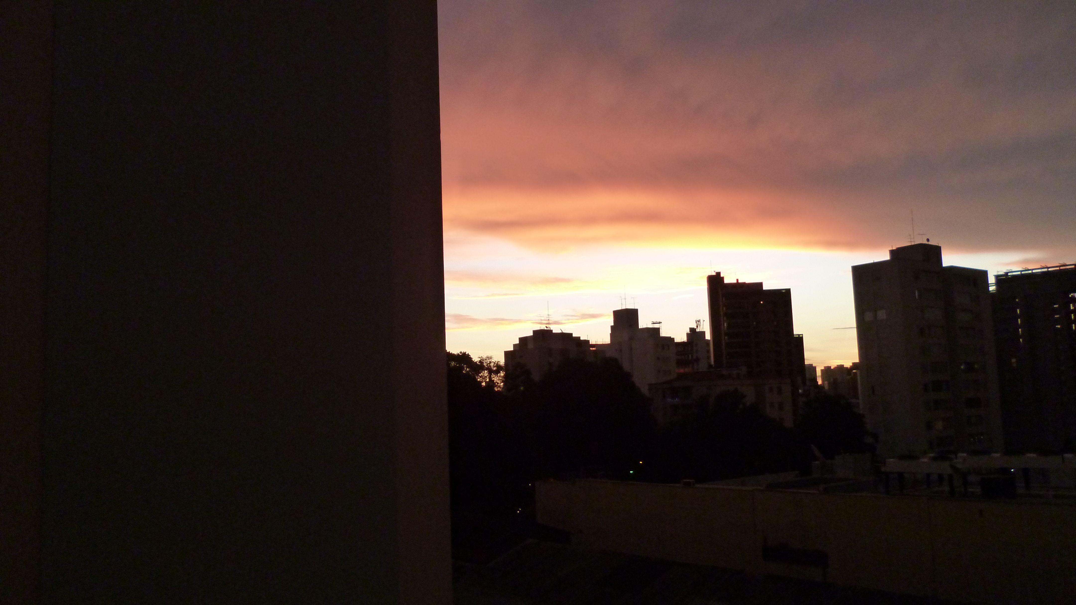 Um pouco de pôr de sol...