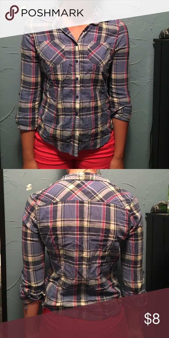 Plaid Shirt Gently worn, runs small, offers encouraged Aeropostale Tops Button Down Shirts