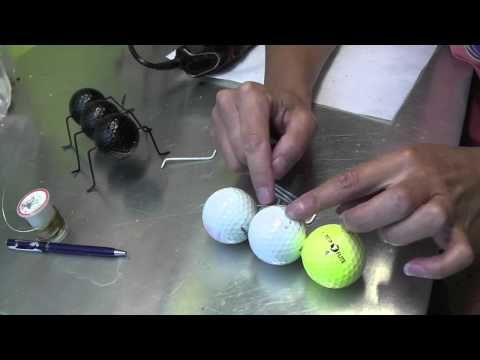 Ant Craft Out of Recycled Golf Balls and Wire Hangers - great use ...