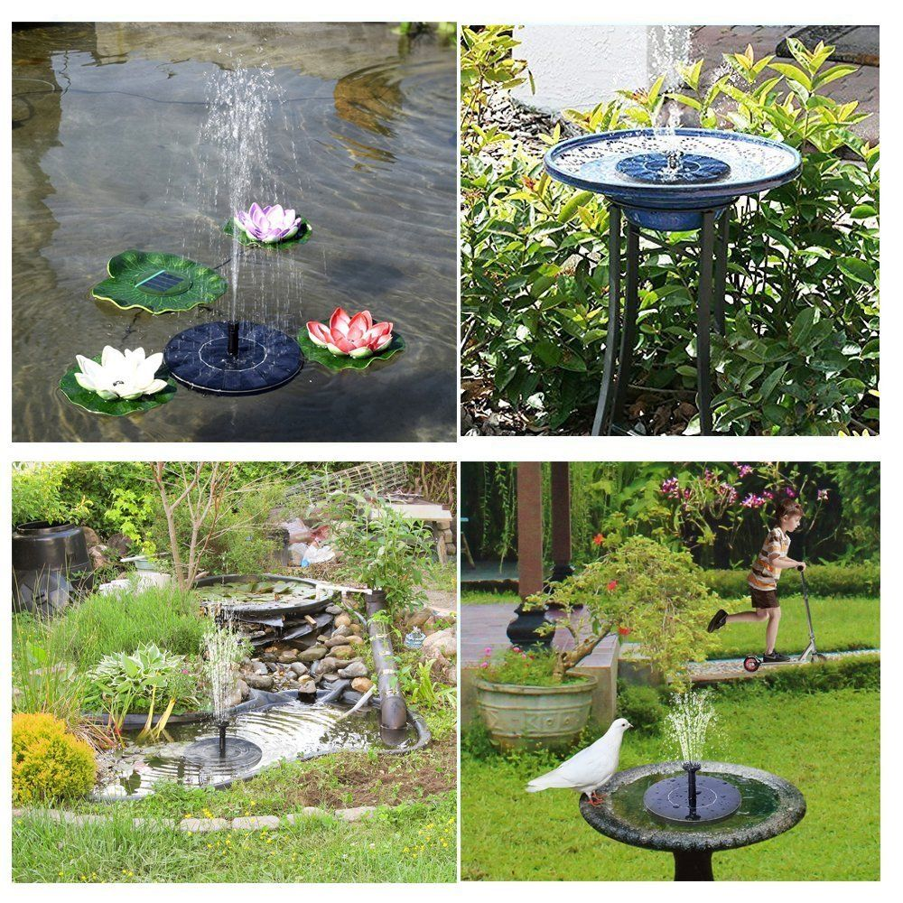 Gogoout Solar Fountain Solar Powered Bird Bath Fountains Pump