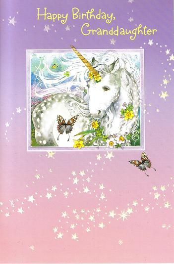 A Birthday Card For That Favorite Granddaughter Wishes Kids Unicorn Cards