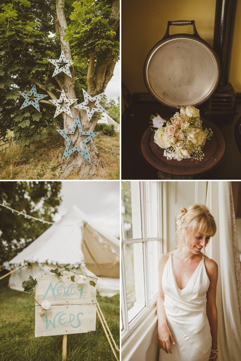 An epic diy bohemian wedding at ratfyn farm with a jenny packham